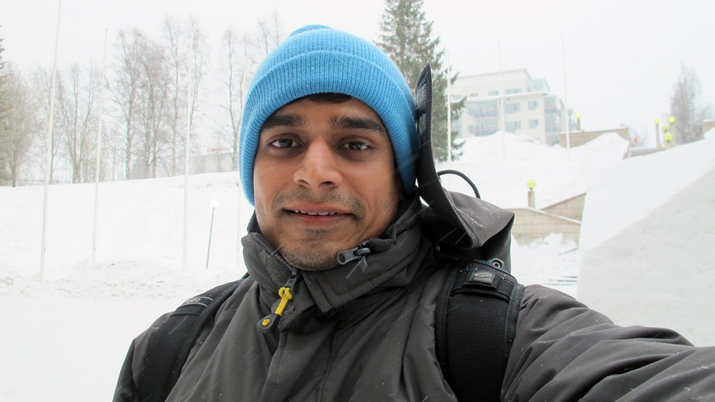 Sporting the Prrem's 2-in-1 Jacket in Finnish Lapland